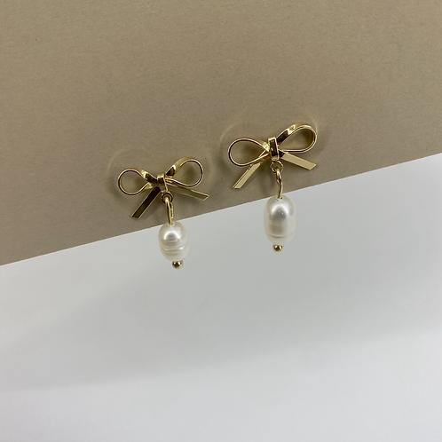 Lets Bow Pearl earrings
