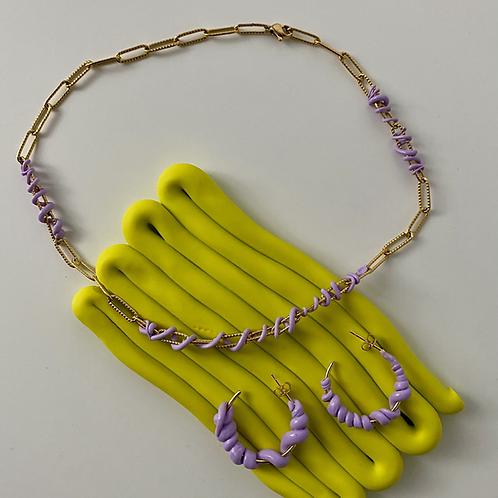 Violet Bubble necklace