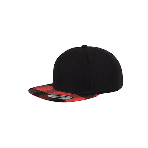 Checked Flanell Peak Snapback Cap