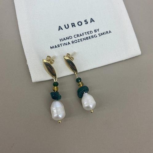 Pearl Malachite earrings