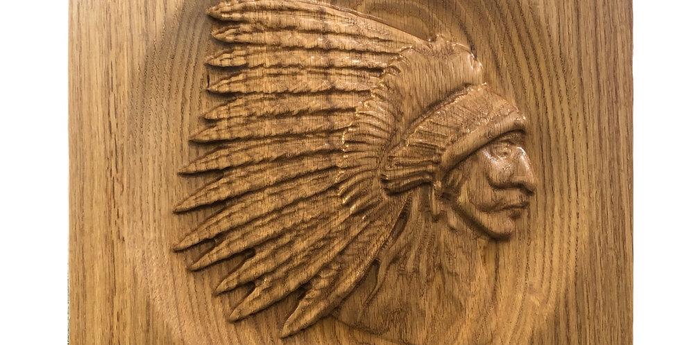 3/D Carved Plains Chief