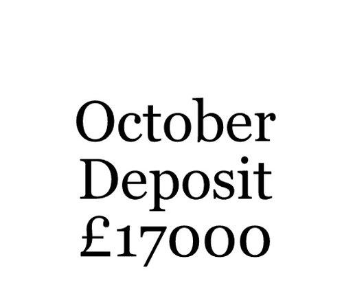 2020 October Build Slot Deposit For Your Moni Self Build.