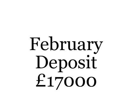 2020 February Build Slot Deposit For Your Moni Self Build.