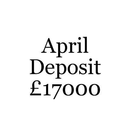 2020 April Build Slot Deposit For Your Moni Self Build.