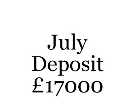 2020 July Build Slot Deposit For Your Moni Self Build.