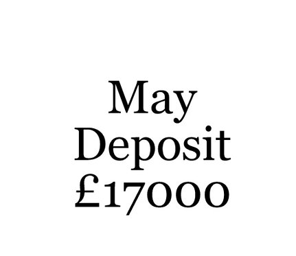 2020 May Build Slot Deposit For Your Moni Self Build.