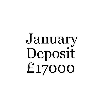 2020 January Build Slot Deposit For Your Moni Self Build.