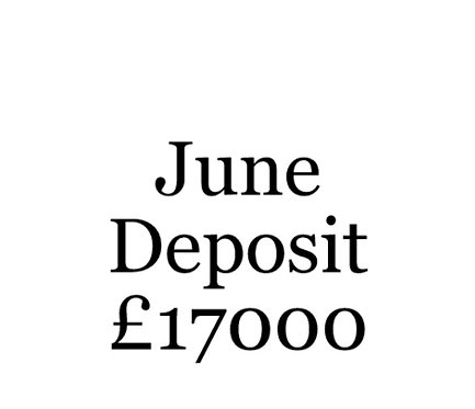 2020 June Build Slot Deposit For Your Moni Self Build.