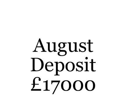 2020 August Build Slot Deposit For Your Moni Self Build.