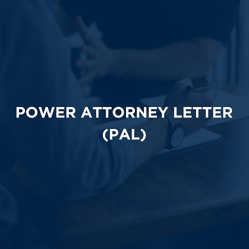Power Attorney Letter