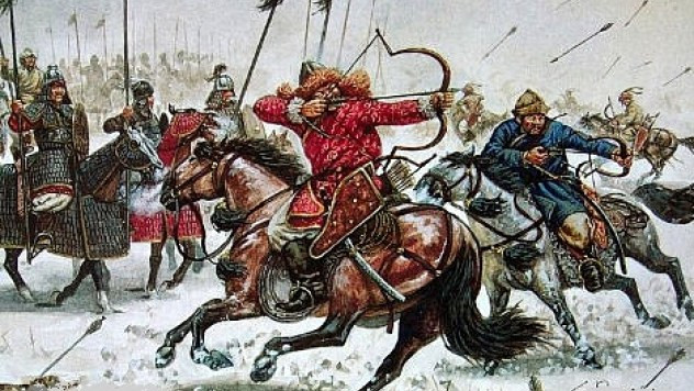war strategy  Enemy thinks mongols are going away but they shoot arrows on the run