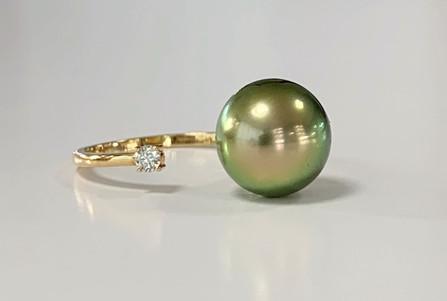 Bague The pearl or 18k diamant GVS perle
