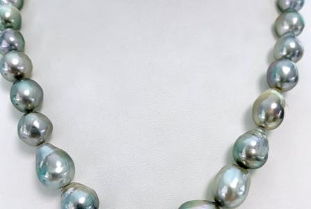 Choker perles semi baroques-baroques