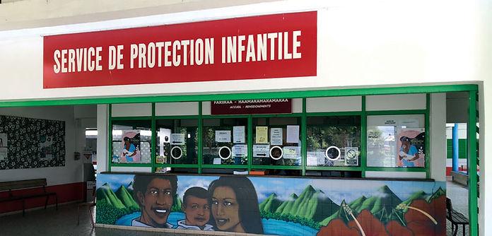 Le bâtiment du Service de protection infantile