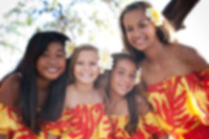 Jeunes filles polynésiennes