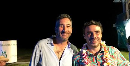 Grégory Léric, directeur du golf et Alex