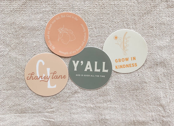 4 Pack of Stickers