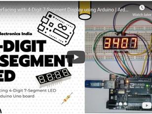 Interfacing 4-Digit 7-Segment Display with Arduino
