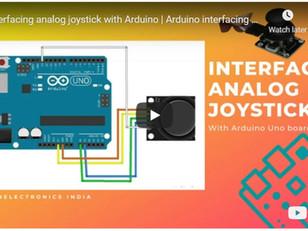 Interfacing analog joystick with Arduino