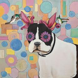 Flower Power Boston Terrier