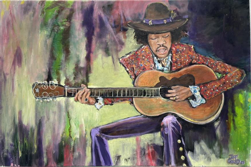 Jimi 24 x 36 oil on canvas