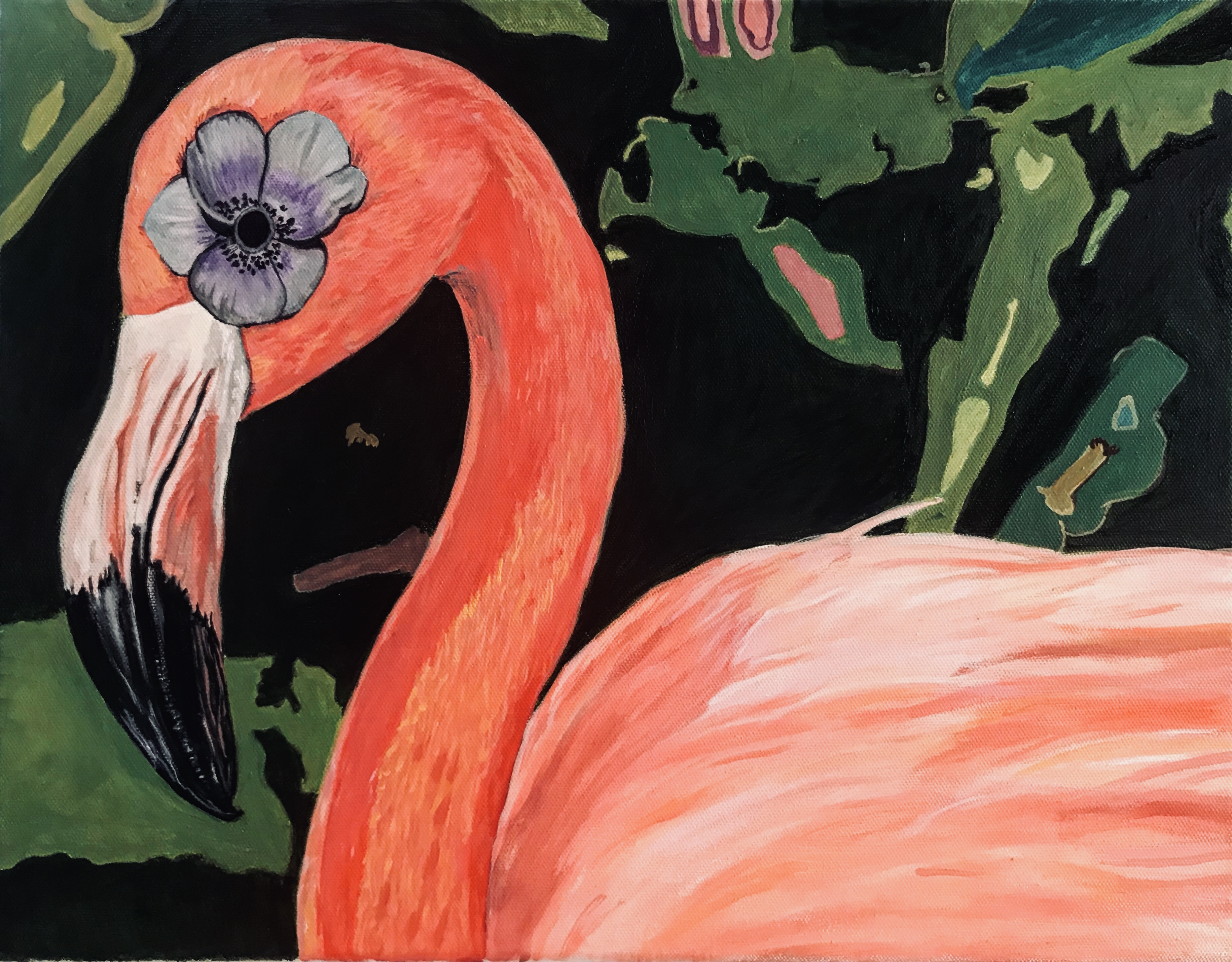 Flower Power Flamingo