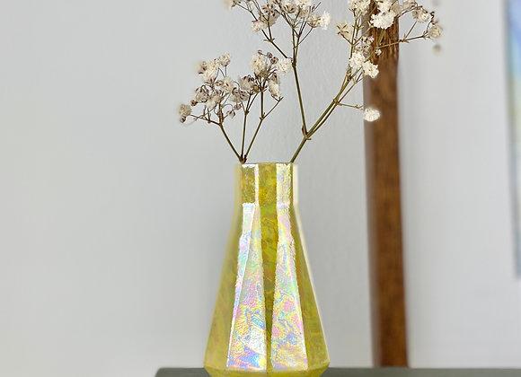 Geometric bud vase in yellow