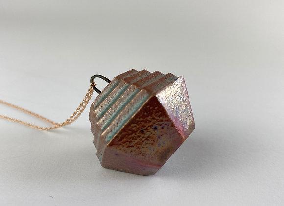 Bismuth pendant necklace copper