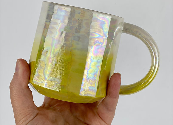 Aurora mug in yellow ombre
