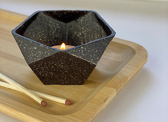 Tealight candle holder in nightsky