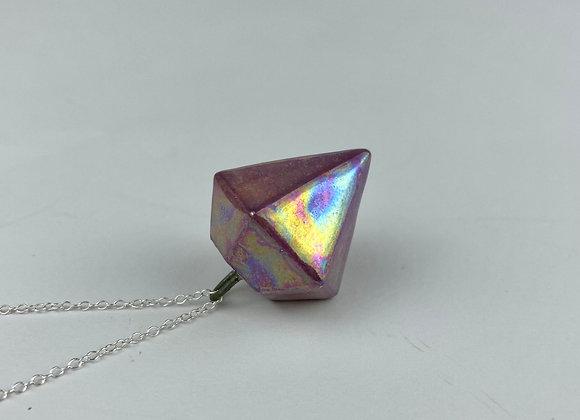Diamond pendant necklace purple