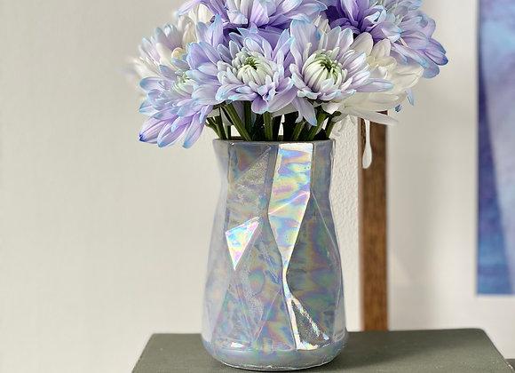 Geometric vase in pale blue