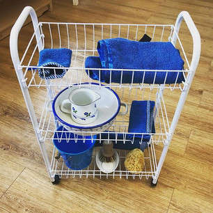 One my favourite resources I made! Table washing trolley