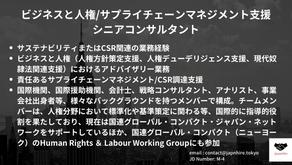 ビジネスと人権/サプライチェーンマネジメント支援シニアコンサルタントを募集