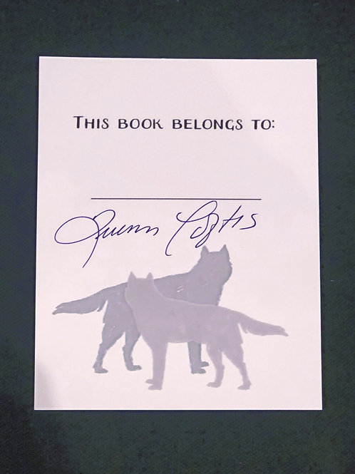 Grey Wolves True Mates Book Plate