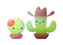 Cacti Couple