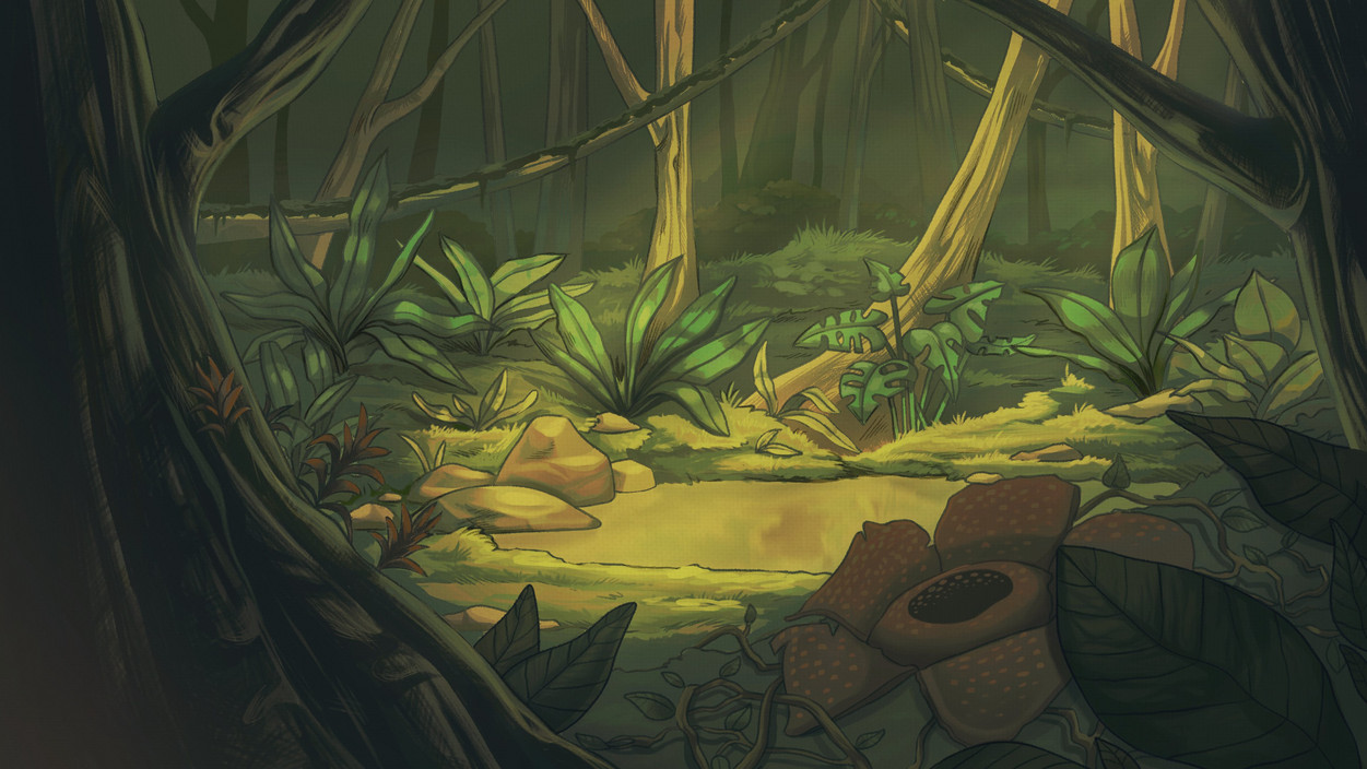 A personal background of a jungle.