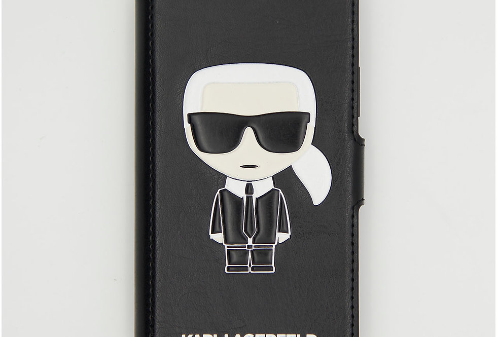 Кожаный чехол книжка на iPhone 11 Pro Karl Lagerfeld