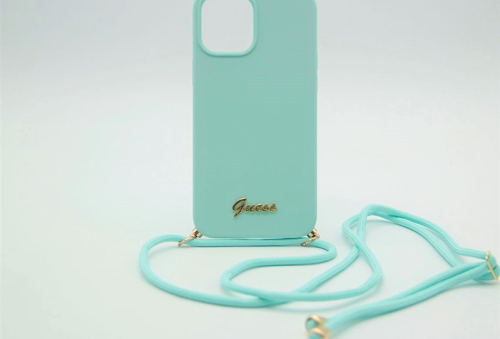 Чехол Guess для iPhone 12 Pro Max Soft-touch со шнурком