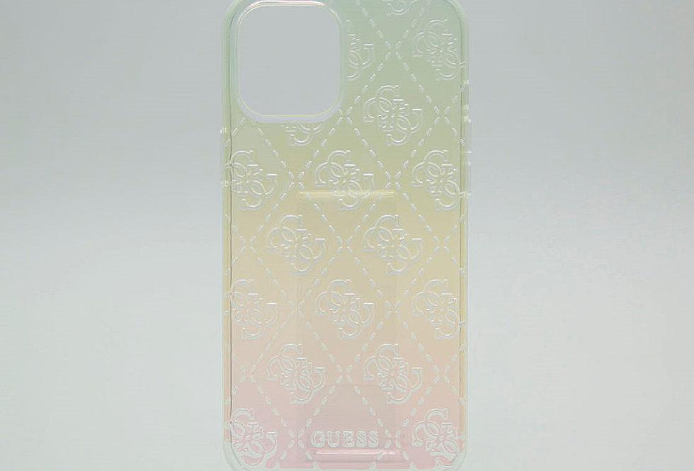 Чехол Guess для iPhone 12Pro Max с рельефным принтом