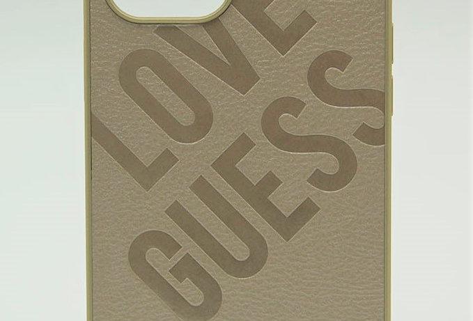 Кожаный чехол Guess для iPhone 12/12Pro