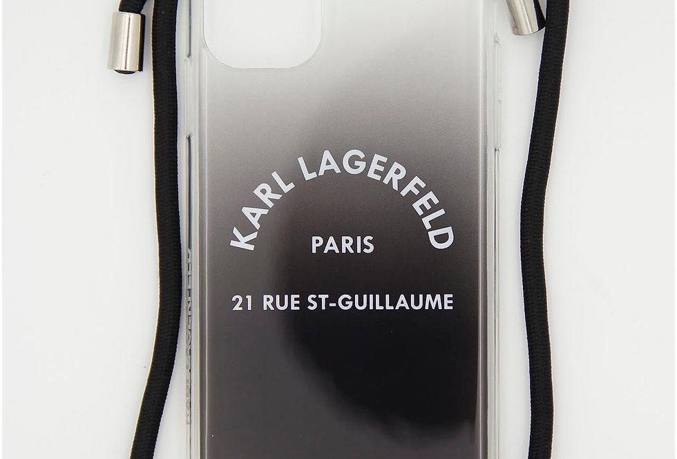 Силиконовый чехол как сумочка на iPhone 11 Karl Lagerfeld