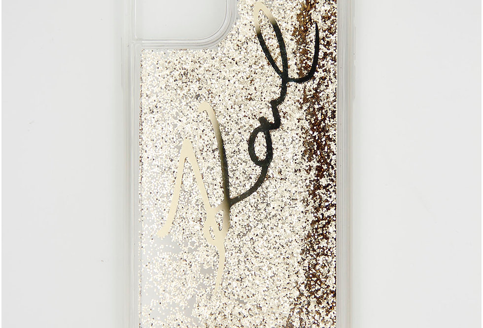 Силиконовый чехол c блестками на iPhone 11 Pro Max Karl Lagerfeld
