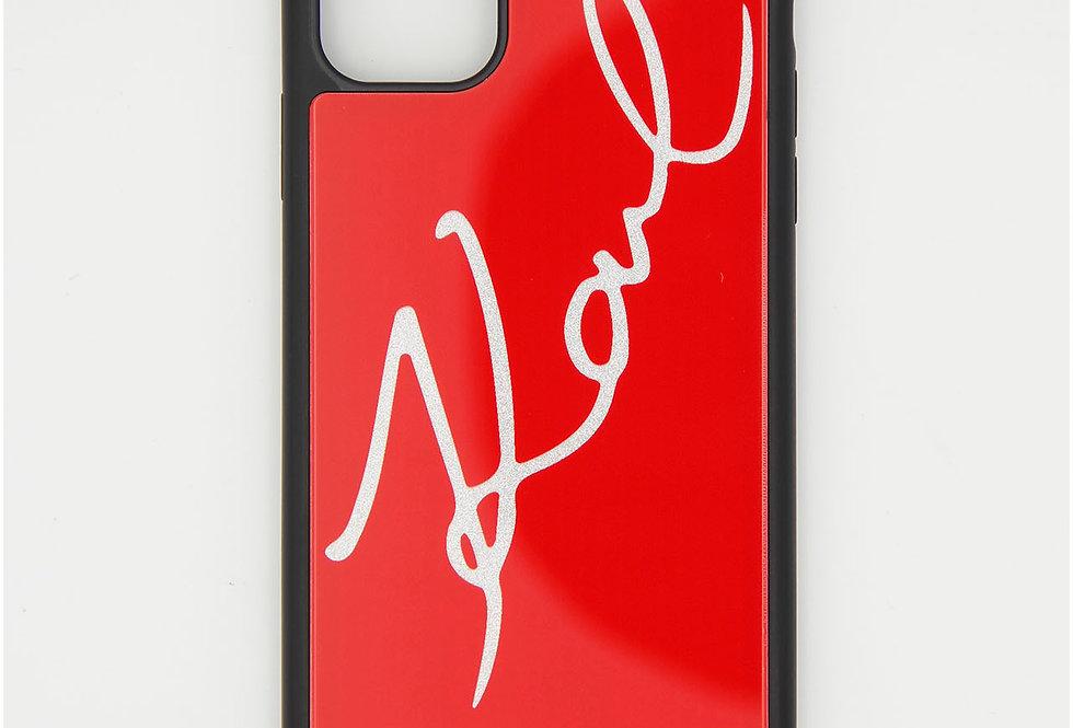 Стеклянный чехол на iPhone 11 Pro Max Karl Lagerfeld