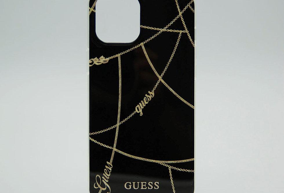 Чехол Guess для iPhone 12 Pro Max с принтом золотой нити