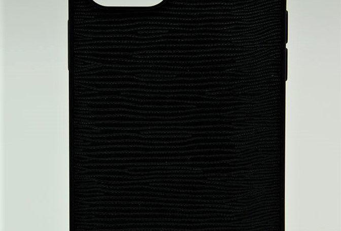 Чехол Guess для iPhone 12 Pro Max с кожаным рельефным покрытием
