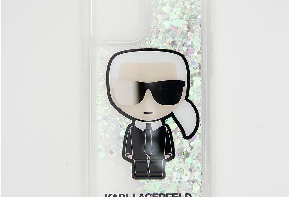 Силиконовый чехол c блестками на iPhone 11 Pro Karl Lagerfeld