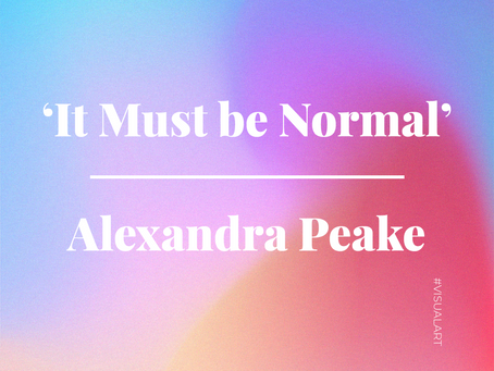 'It Must be Normal'; An Animated Short Film by Alexandra Peake