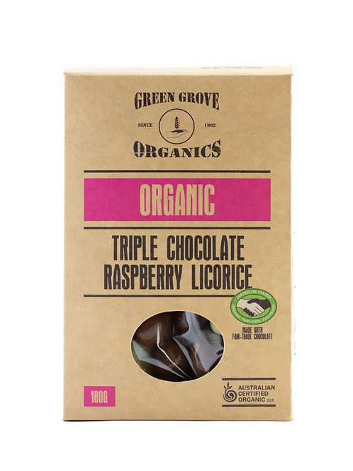 Triple Chocolate Coated Raspberry Licorice