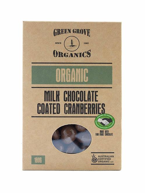 Milk Chocolate Coated Cranberries